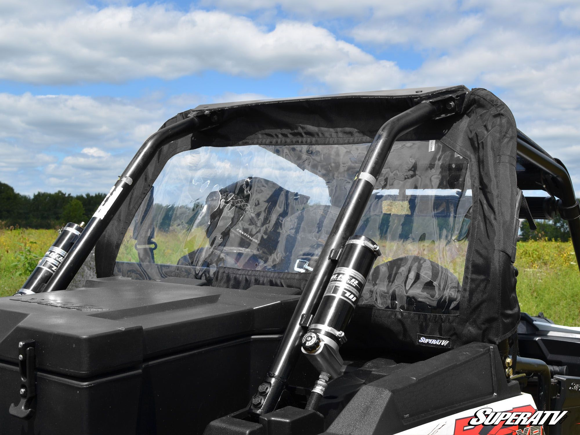 SuperATV Rear Windshield Soft Panel for Polaris RZR XP 1000 S 1000 Easy to Install! 2014+ XP 4 1000